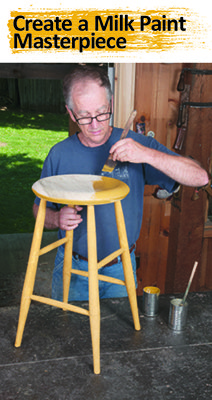 Man Painting Stool