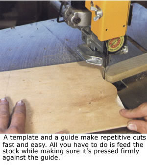 Bandsaw Template Sawing
