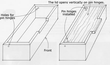 Boxes with Pin Hinges