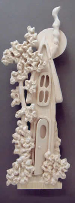 Relief carve a whimsical house