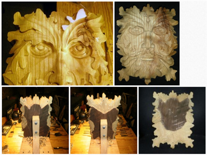 Carving the Green Man with Micheal Zelonis-Part 2, Detail