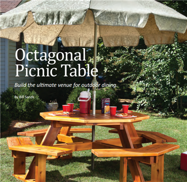 Octagonal Picnic Table - Octagon shaped picnic table