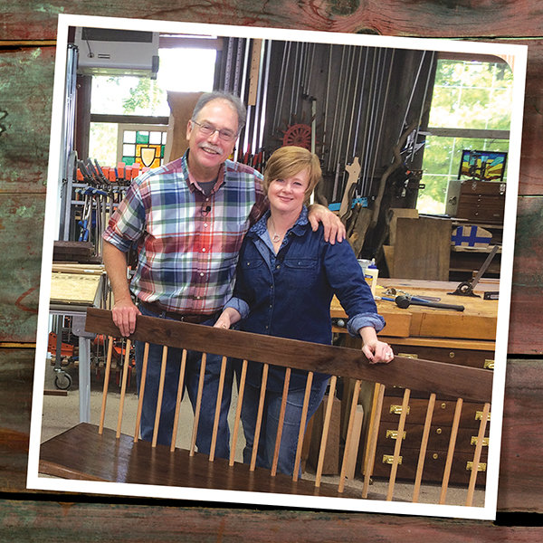Co Hosts Scott And Suzy Phillips Reclaim Recycle And Upcycle In Season 24 Of The American Woodshop