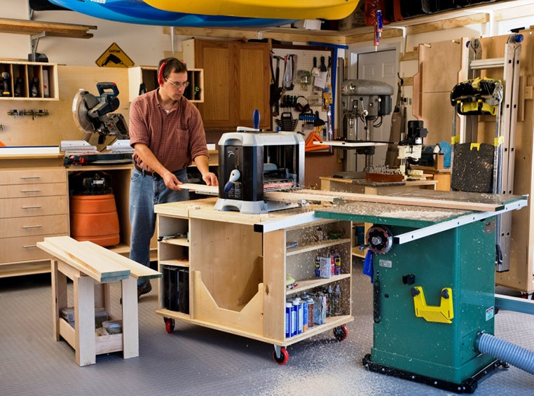 Joe Constructed His Cabinet To Have The Same Height Level As Tablesaw So They Work Together In A Small Workshop Environment Plus Giving Him Added