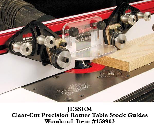 Woodcraft adds new jessem table saw safety accessory to for Router table guide