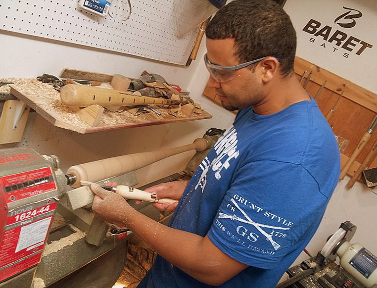 U S  Veteran Home-Based Woodturner Business Bats a Thousand