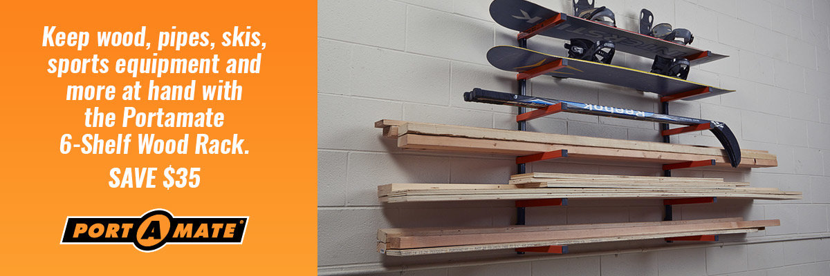 Save $35 on Portamate Wood Rack