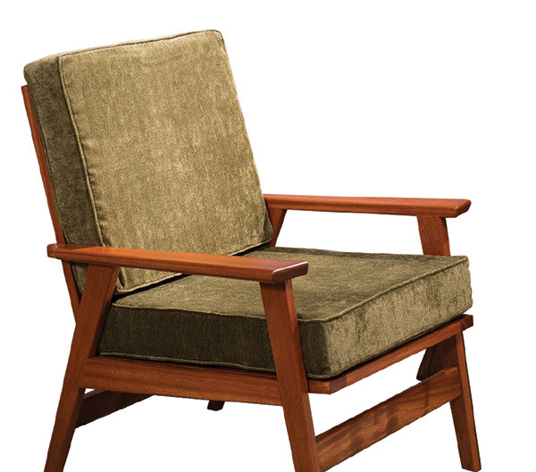 Chair made of sapele