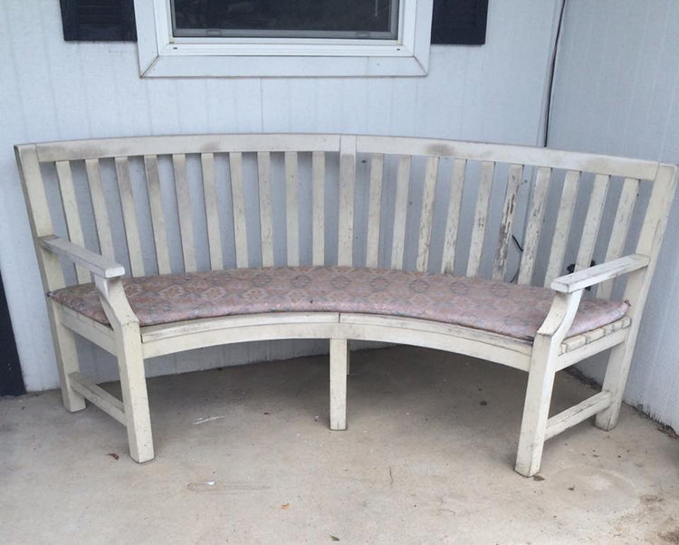 Mall Bench Before