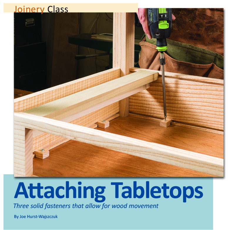 attaching tabletops