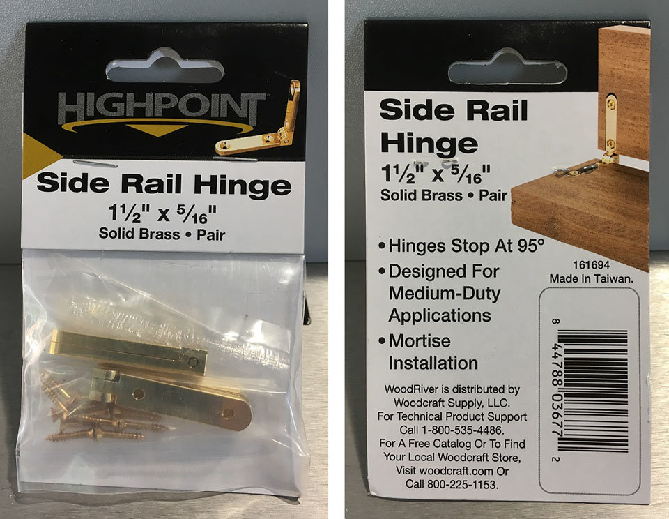 Highpoint Side Rail Hinges
