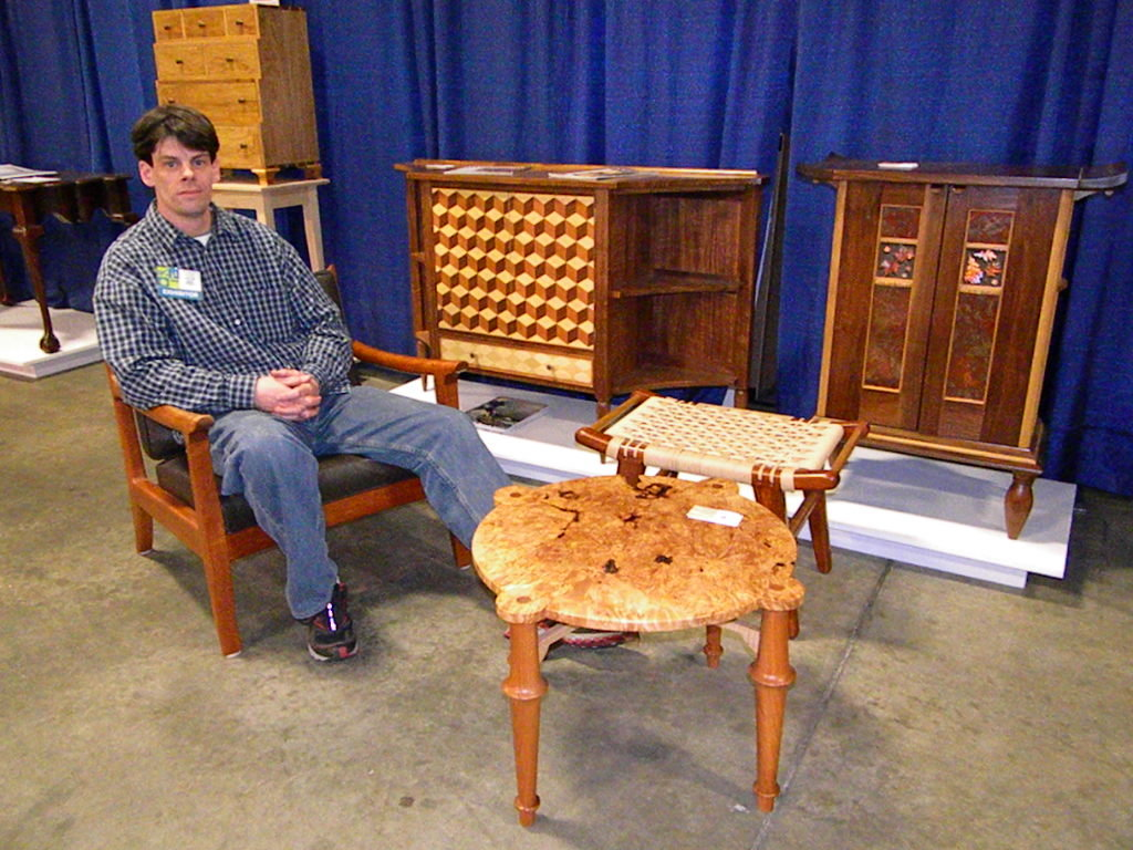 Kevin Mack Fine Furniture Wood Expo 2012