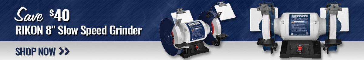 "Save $40 Rikon 8"" Slow Speed Grinder"