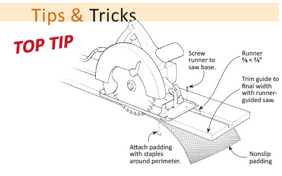 Clamp-Free Portable Saw Guide