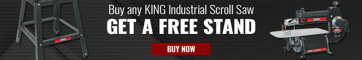 Buy King Industrial Scroll Saw Get free stand