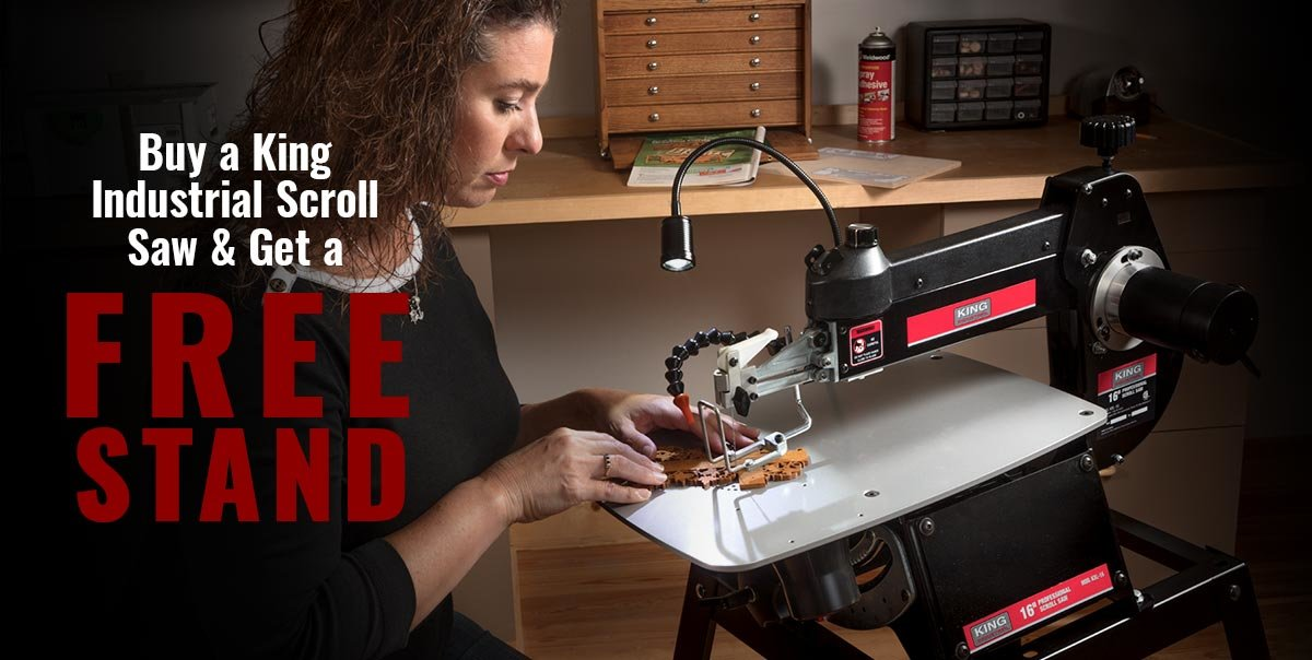 Special Offer - Free Stand with King Scroll Saw