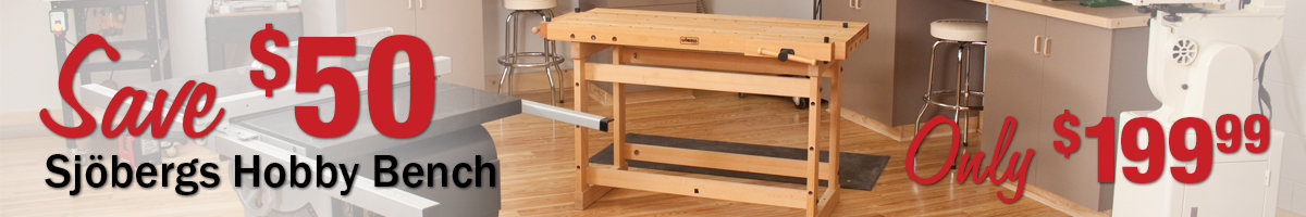 Save $50 Sjobergs Hobby Bench