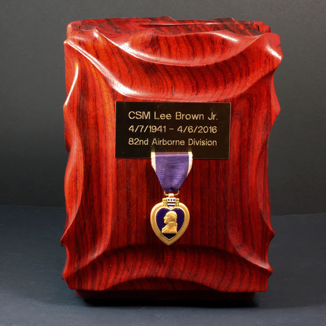 CSM Lee Brown Jr Purple Heart urn