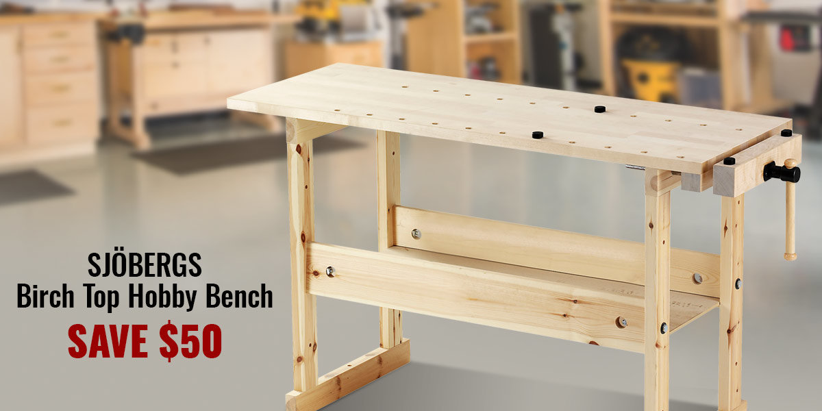 Take $50 Off Sjobergs Hobby Bench