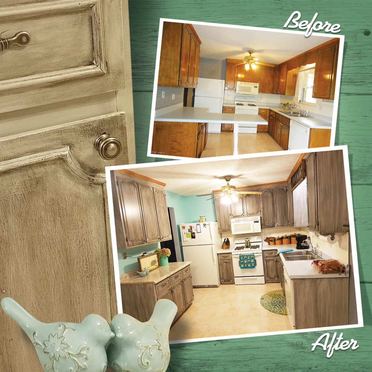 Kitchen Cabinets Before-After
