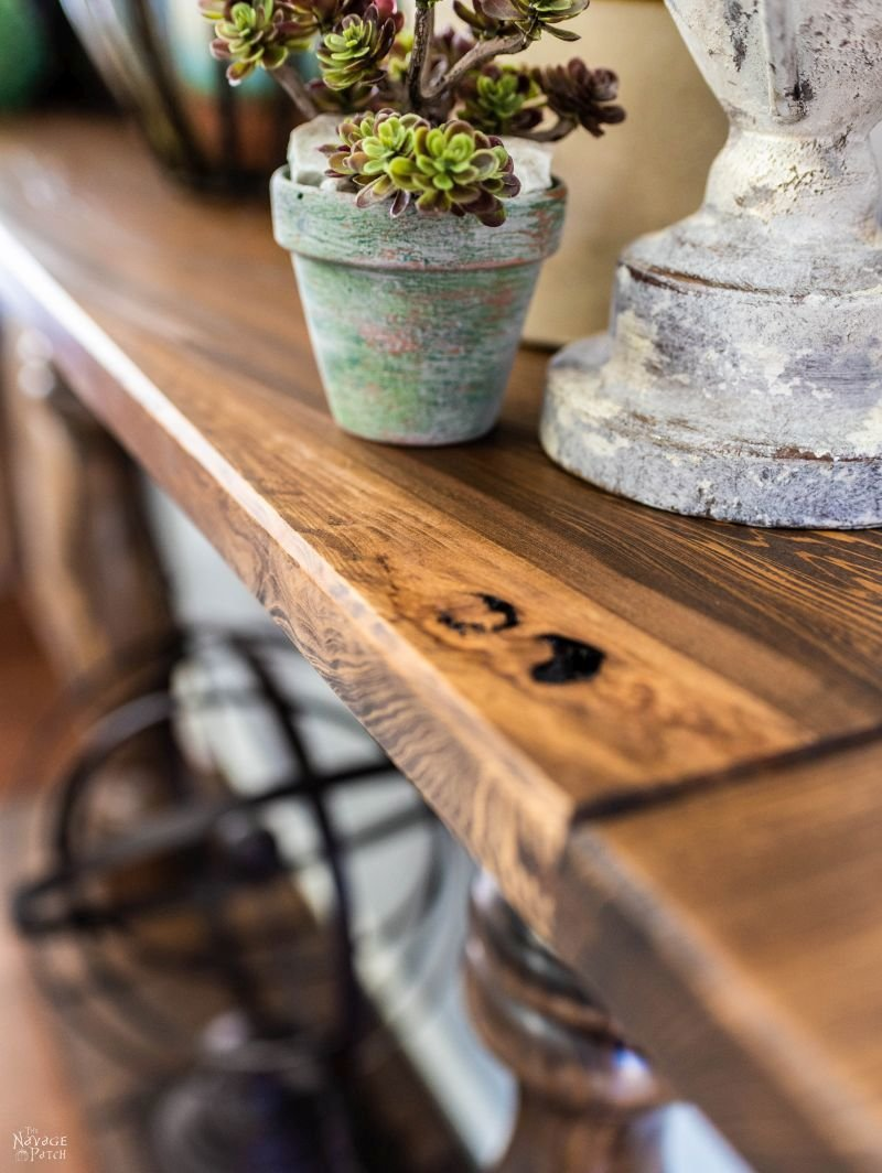 DIY Farmhouse Console Table