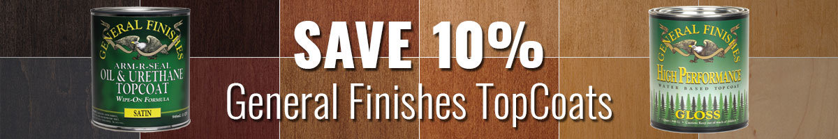 Save 10% on General Finishes topcoats