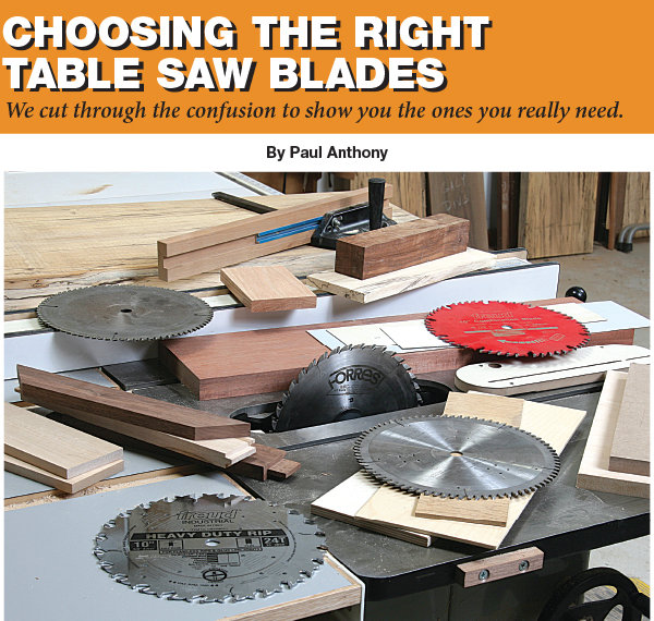 Choosing the Right Table Saw Blades