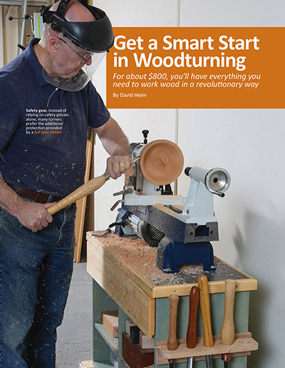 Smart start in woodturning