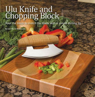 Ulu Knife and Chopping block
