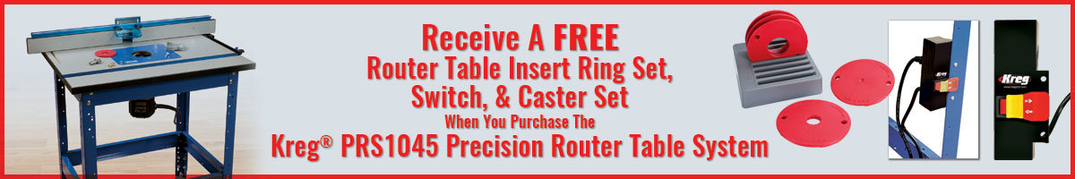 Free router table insert w/purchase