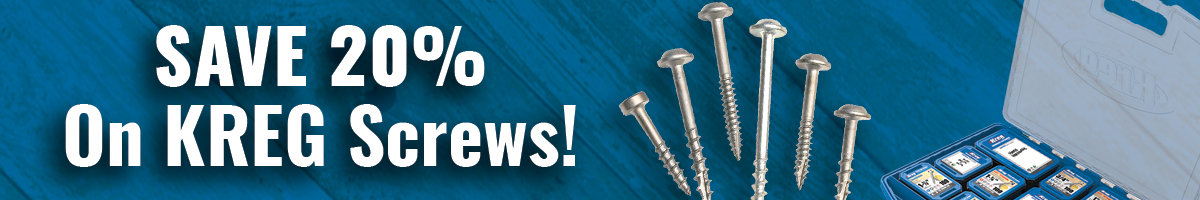 Save 20% on Kreg screws
