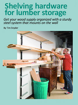 Shelving hardware for lumber storage