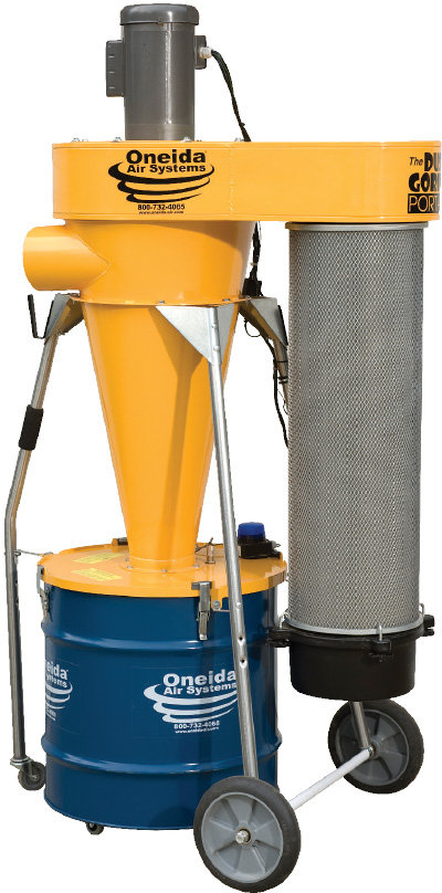 Oneida's 2 HP Dust Gorilla Portable Dust Collector
