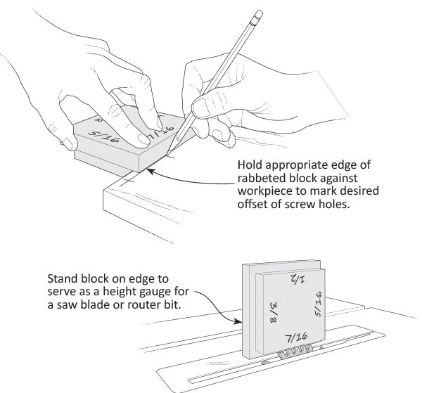 Offset And Depth Gauge Block