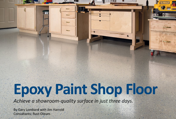 Epoxy Paint Shop Floor Achieve A Showroom Quality Surface