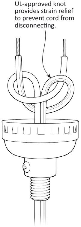 UL-Approved Lamp Cord Knot