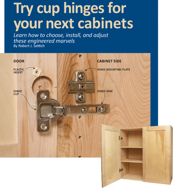 Try Cup Hinges For Your Next Cabinets Learn How To Choose Install And Adjust These Engineered Marvels