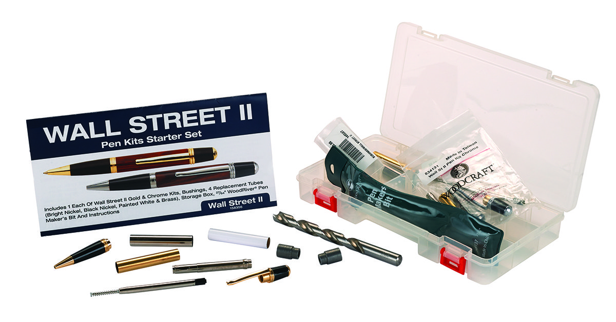 Wall Street II Pen Kit Starter Set