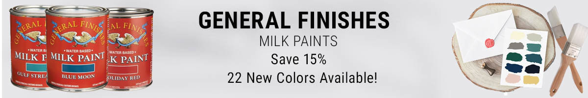 Save 15% on General Finishes milk paint