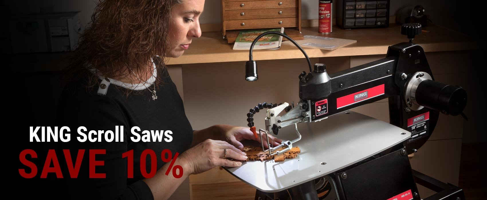 10% Off KING Scroll Saws for a Limited Time