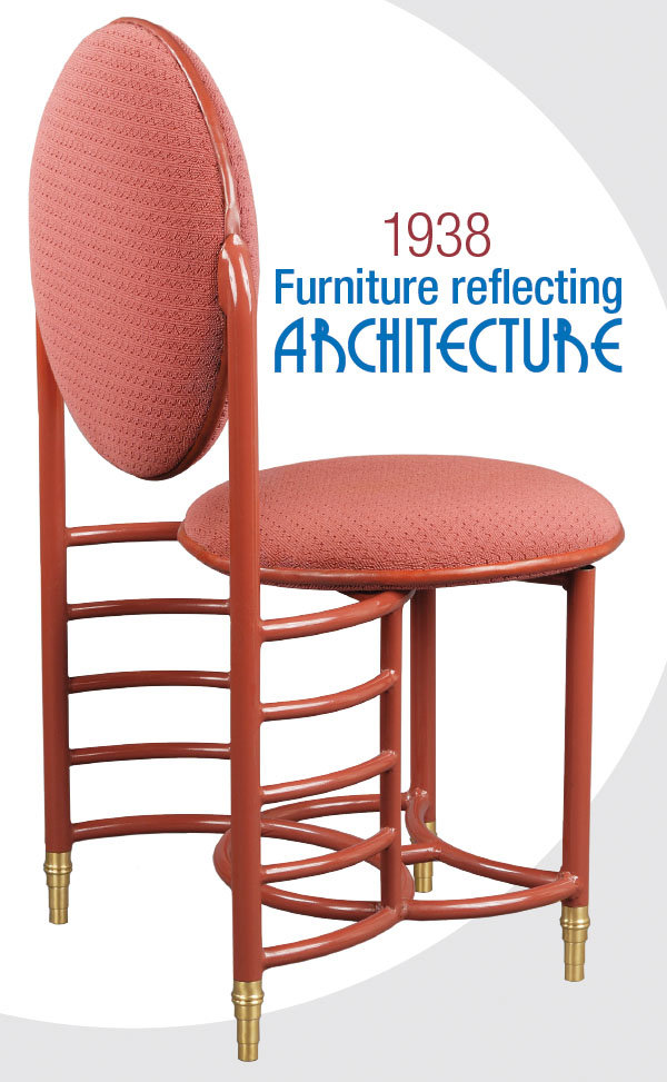 1938 Furniture reflecting architecture