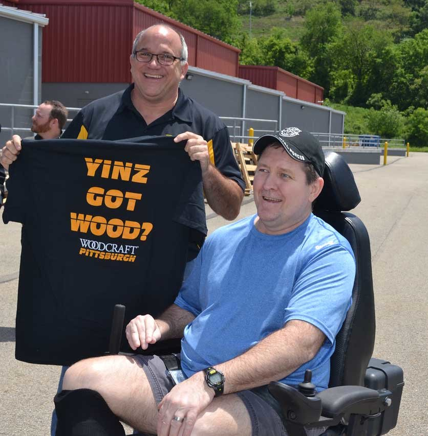 Dan also gave Greg a Woodcraft T-shirt with uniquely Pittsburgh wording.