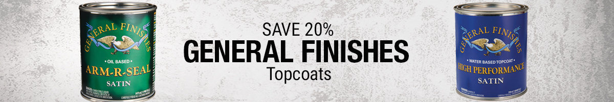 Save 20% on General Finishes topcoats