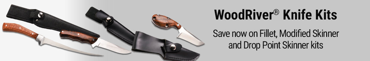 Save now on WoodRiver knife kits