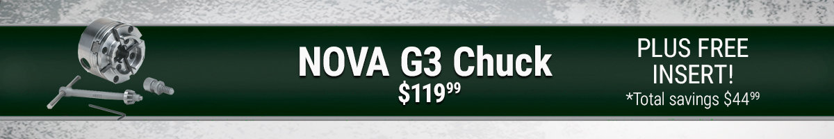 Free insert with purchase of NOVA G3 Chuck