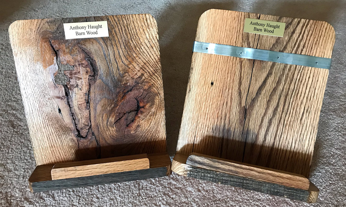 Barn wood Cookbook or Tablet stand