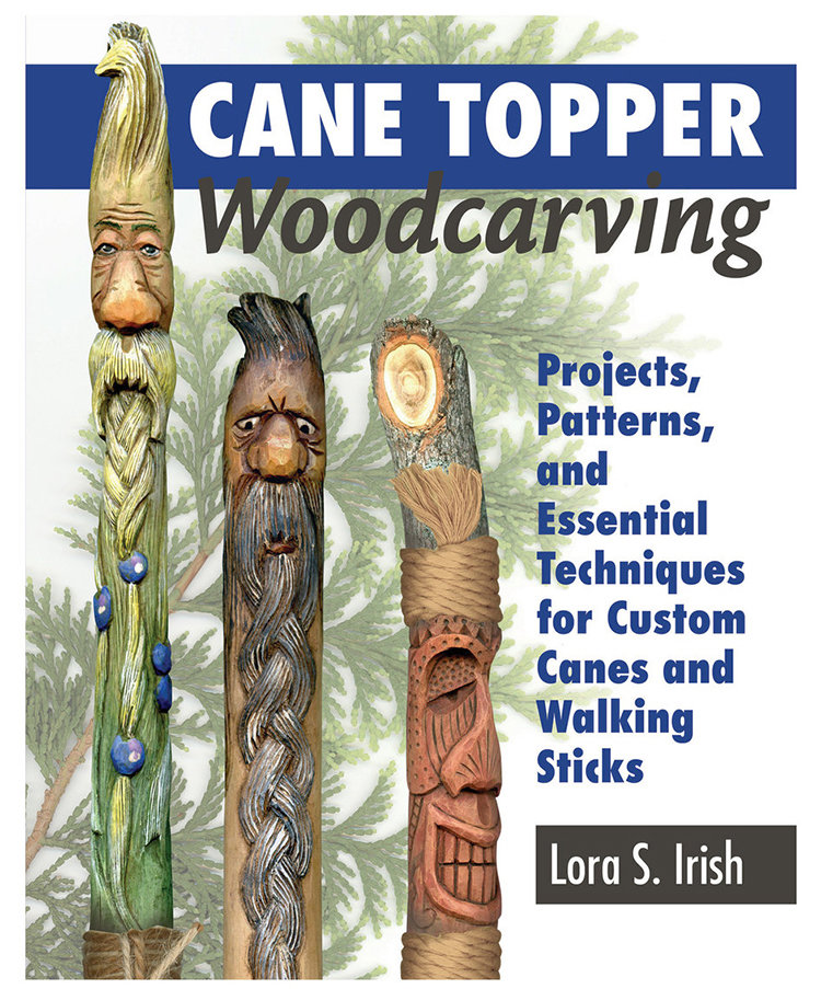 Cane Topper Woodcarving by Lora S. Irish