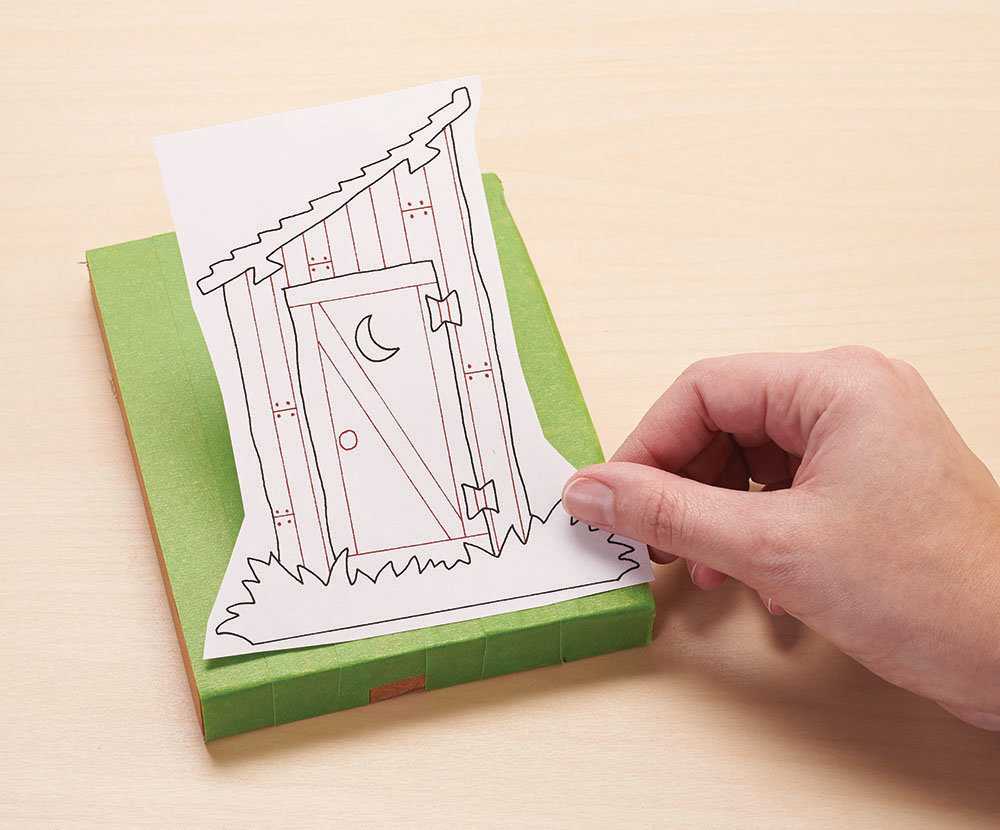 Spray adhesive or a glue stuck are handy tools for attaching patterns to the wood.