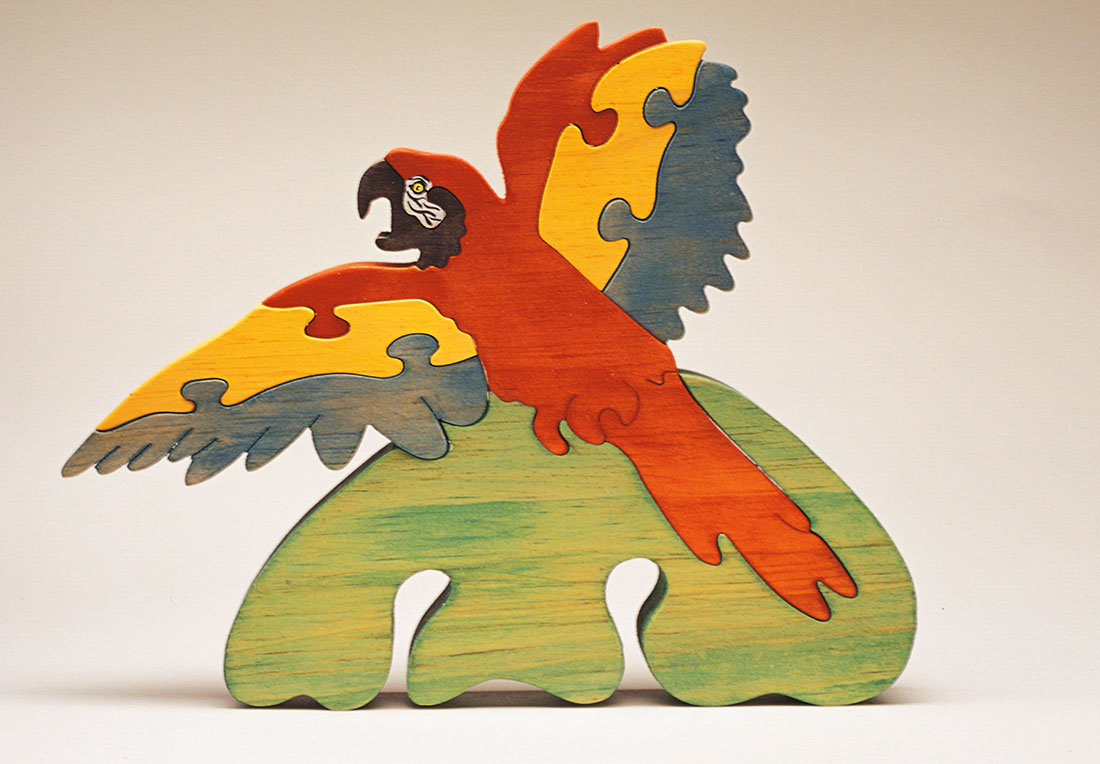 Flying Macaw Scroll Saw Puzzle