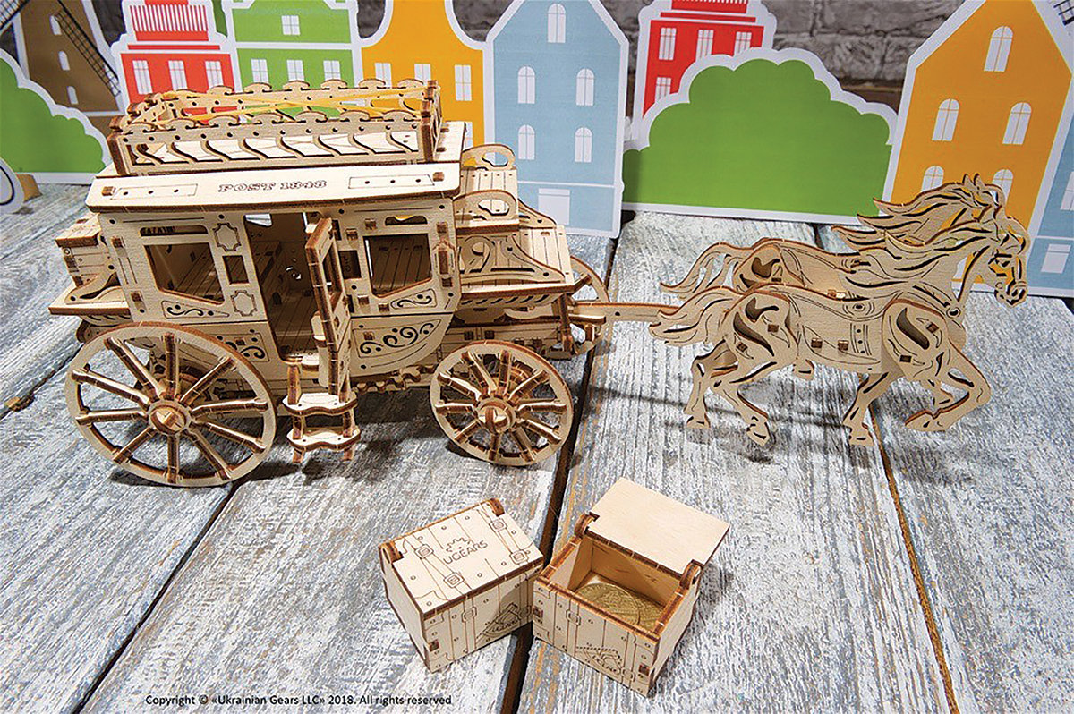 UGears Stagecoach Model Kit